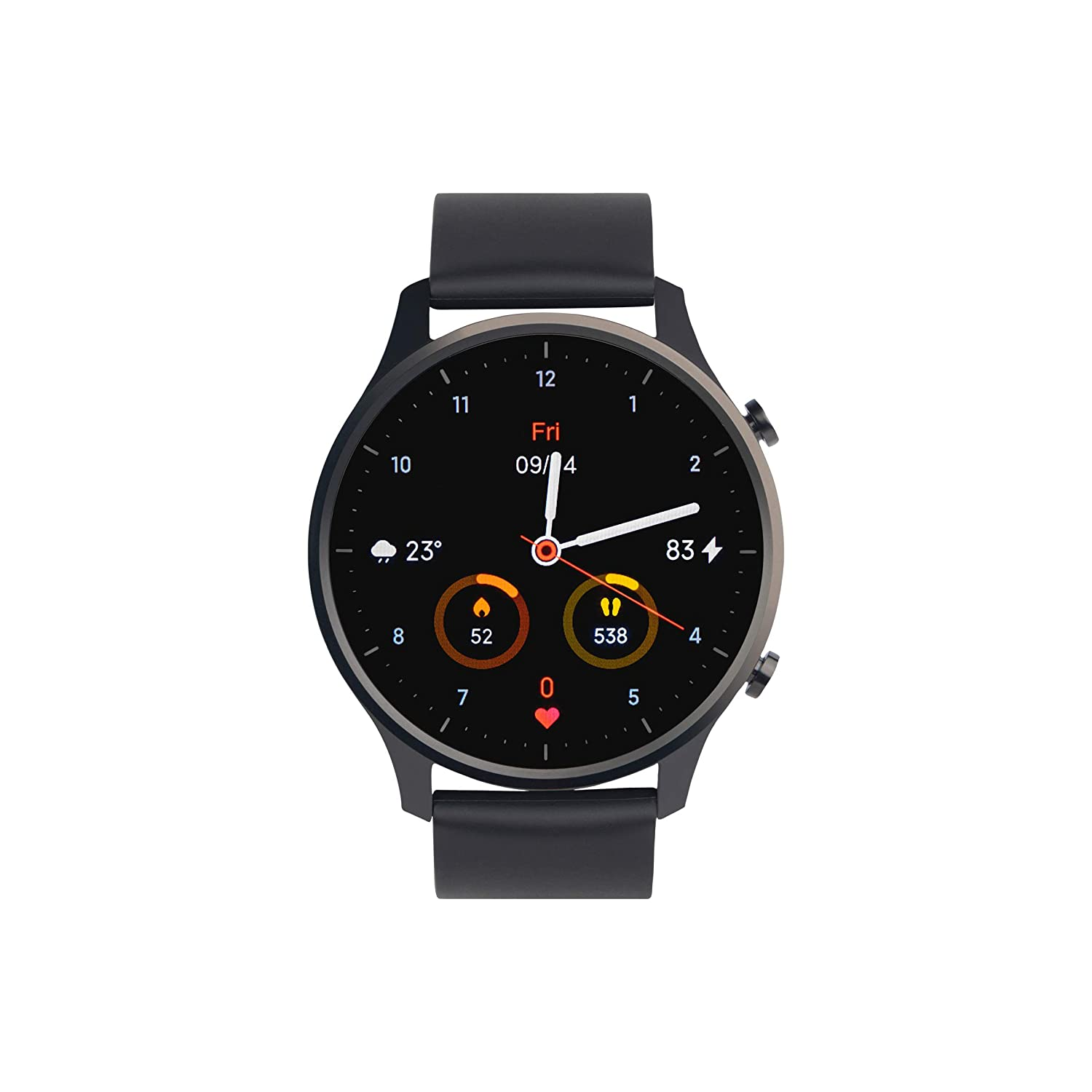 "Mi Watch Revolve,1.39"" AMOLED Screen,5ATM Water Resistant,VO2 Max,First Beat Motion Algorithm,Stress & Sleep Management, Midnight Black"