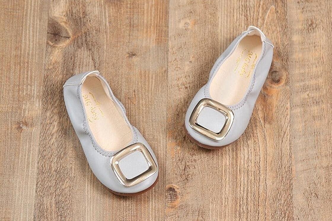 Zarachielly Girls Foldable Loafer Ballet Flats Slip On Driving Dress Boat Shoes