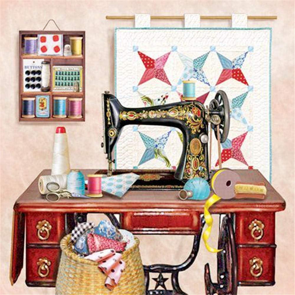 ouyalis Pintura al óleo, Pintura Digital, decoración del hogar, Sala de Estar, Mural, Pintura Digital, Pintura al óleo, Bricolaje Pintura-máquina de coser-40x50 cm