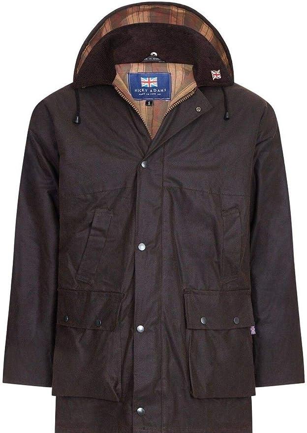Nicky Adams - Chaqueta - para Hombre Marrón marrón XL: Amazon.es: Ropa y accesorios