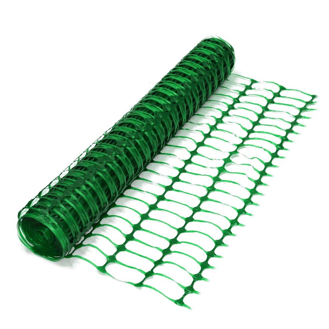 True Products B1001F 50 M está ndar plá stico malla de seguridad valla de barrera de malla, color verde
