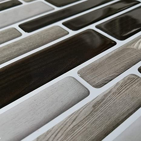 Holzmaserung Profesticker 6 Blatter 30.5x30.5CM Fliesenaufkleber Selbstklebende Klebefolie 3D Fliesen Aufkleber Klebefliesen Fliesendekor Fliesenfolie Bord/üre