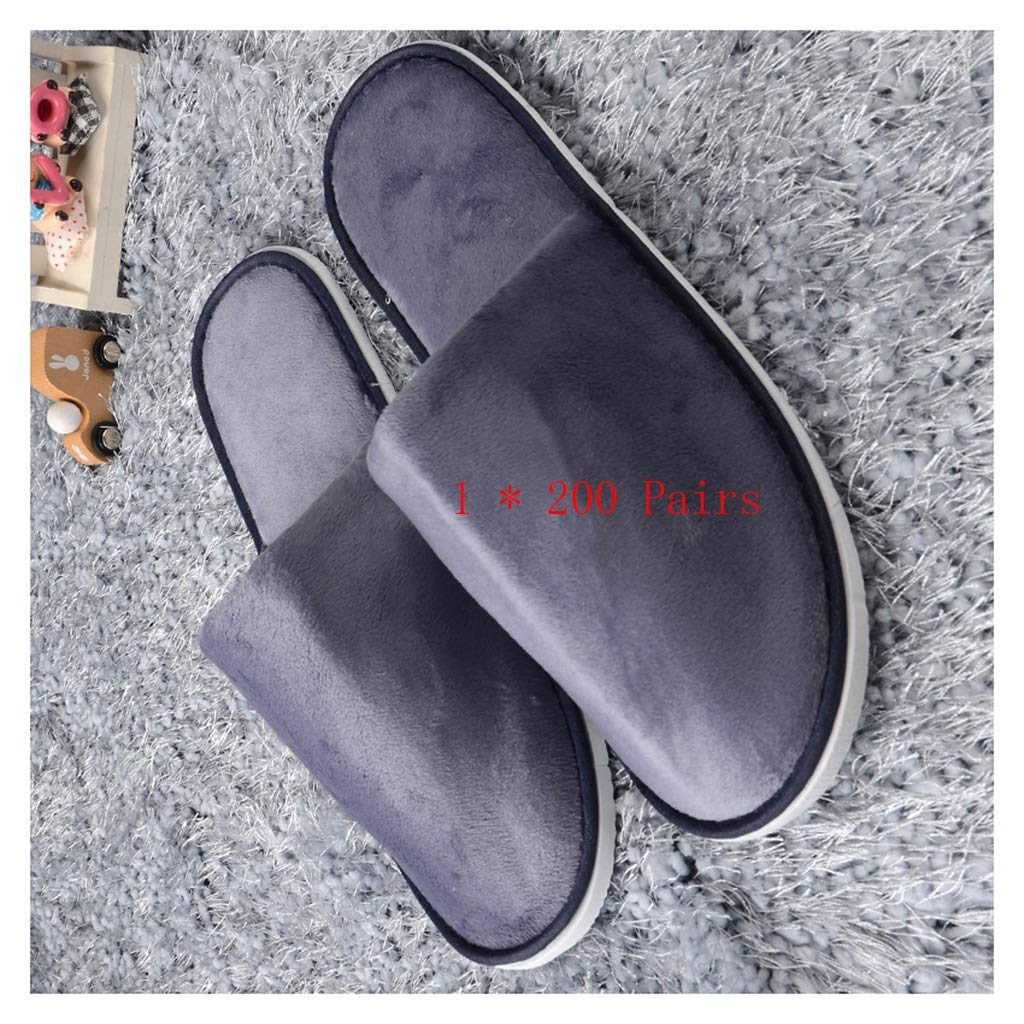 Purple 200 pairs Disposable Slippers,spa Slippers Unisex Spa Slippers One-time Men's 200 Pairs Slippers Men's Slippers Men's Hotel Foot Massage Slippers Women Non-thickly Thick Home Hospitality Guests