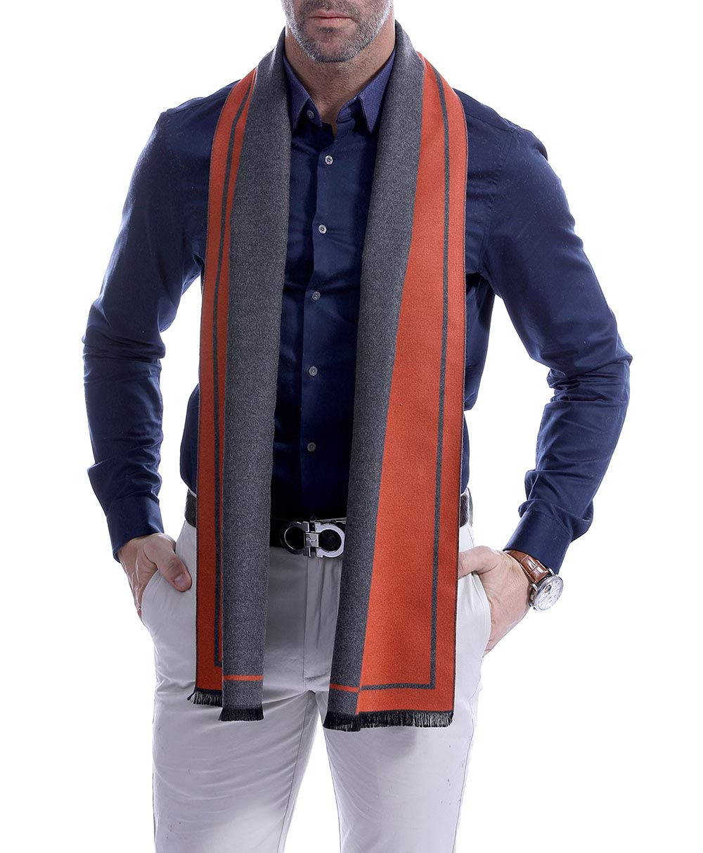 LUOUSE Mens Winter Cashmere Scarf Fashion Formal Soft Scarves for Men
