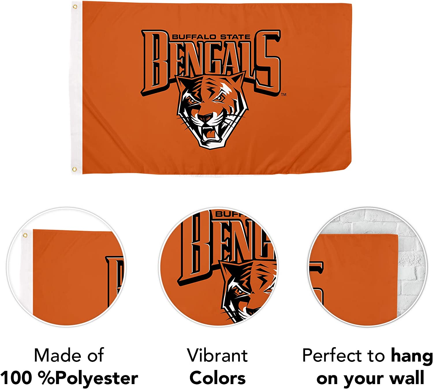 Desert Cactus Buffalo State College NCAA 100/% Polyester Indoor Outdoor 3 feet x 5 feet Flag