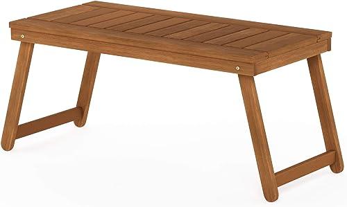 Furinno FG19064 Tioman Outdoor Hardwood Coffee Folding Table