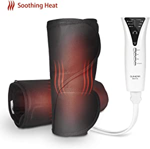 QUINEAR Air Compression Leg Massager with Heat Calf Wrap Massage Therapy Leg Warmer for Circulation and Muscles Pain Relief