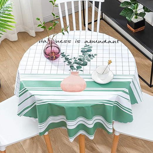 CAREXY Mantel Redondo PVC,plastico Vinilo Antimanchas Impermeable Resistentes Al Calor Mantel De Hule para Comedor Jardín Salón Banquete,H-60cm: Amazon.es: Hogar