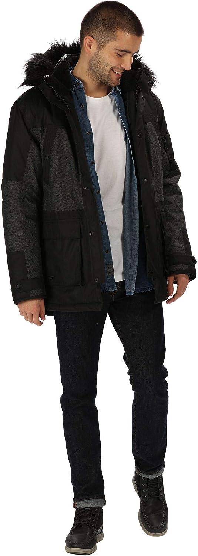 Regatta Mens Aalto Waterproof /& Breathable Heavyweight Down-touch Insulated Faux Fur Hooded Winter Parka Jacket Waterproof