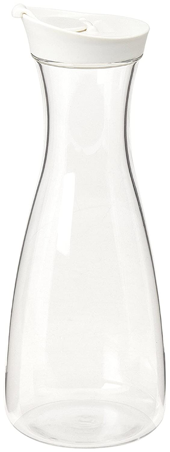 BEST PRODUCT Large White (Clear) Plastic Carafe Pitcher - Acrylic - BPA Free - 36 oz. (1.5 LT.) - Premium Quality - for Juice - Water - Wine - Iced Tea or Milk