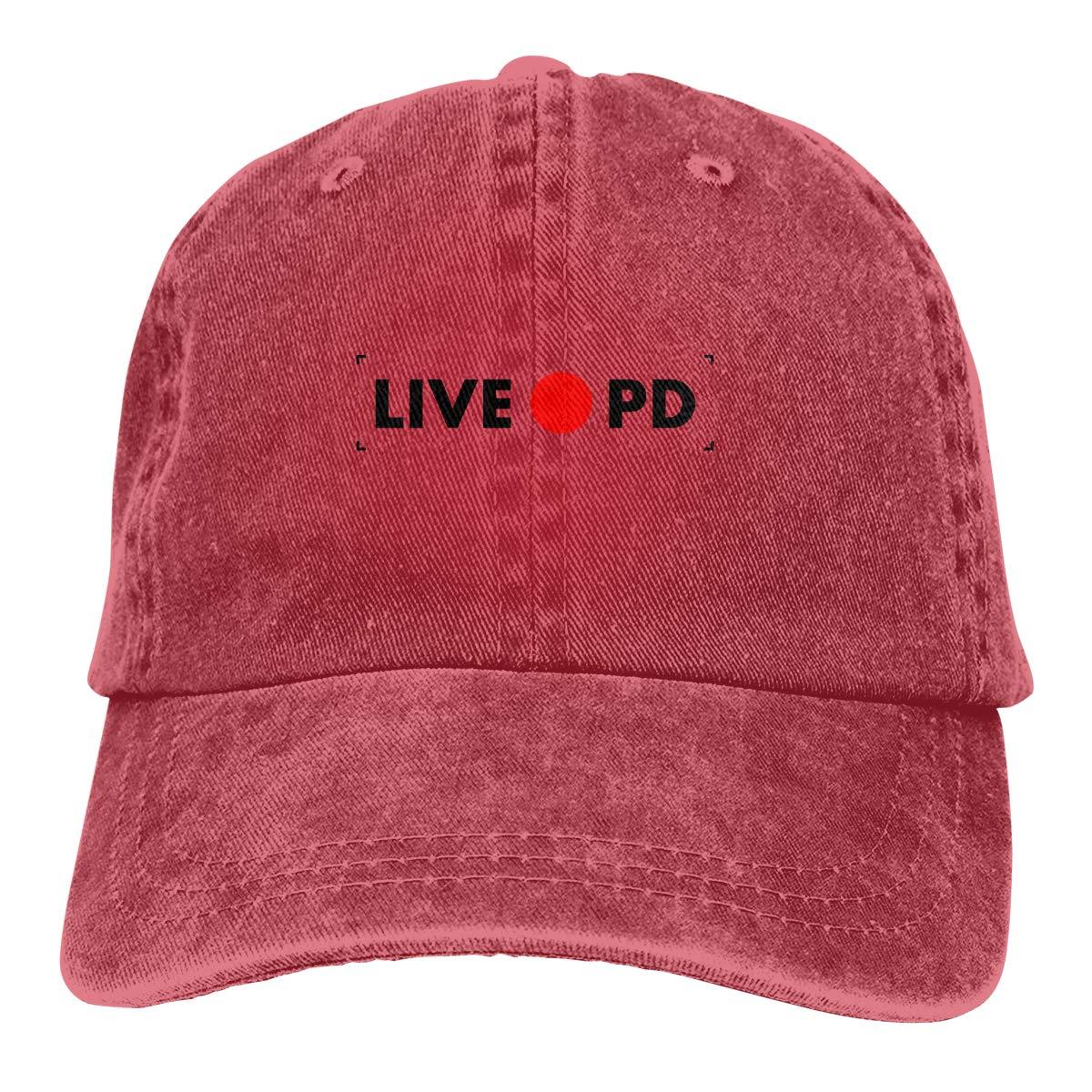 Sajfirlug Rec Live PD Fashion Adjustable Cowboy Cap Baseball Cap for Women and Men
