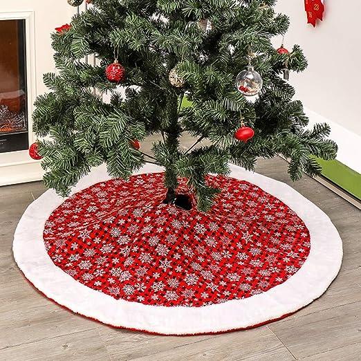 Leezo Copo de Nieve Impreso Árbol de Navidad Falda/Navidad ...