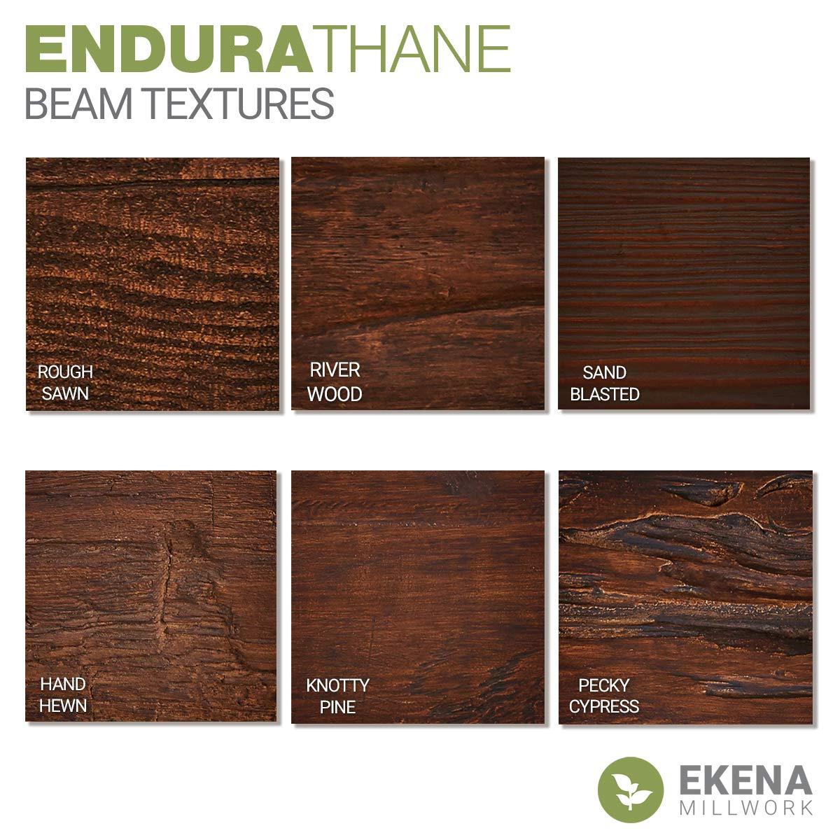Ekena Millwork BMRW3C0040X060X120PP 3-Sided U-Beam Puritan Pine Riverwood Faux Wood Beam 4W x 6H x 10L