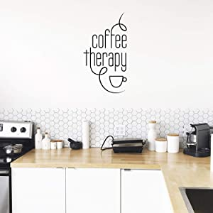 Vinyl Wall Art Decal - Coffee Therapy - 30