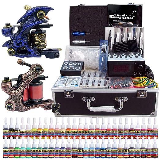 Tattoo Complete Professional 2 Tattoo Machine Set Kit de Tatuaje ...