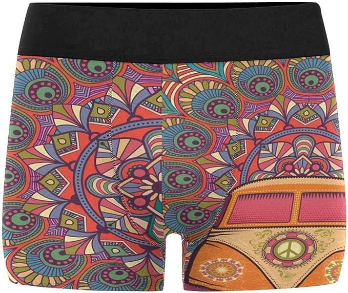 INTERESTPRINT Boxer Briefs Mens Underwear Ethnic Tribal Print XS-3XL