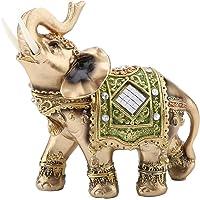 Akozon Estatua del elefante Verde elegante, Artesanías, Coleccionables, Regalo de Vacaciones, Adornos
