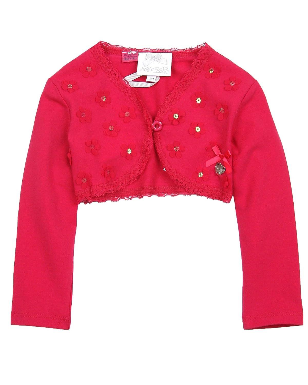 Sizes 12-24M Le Chic Baby Girls Bolero Raspberry