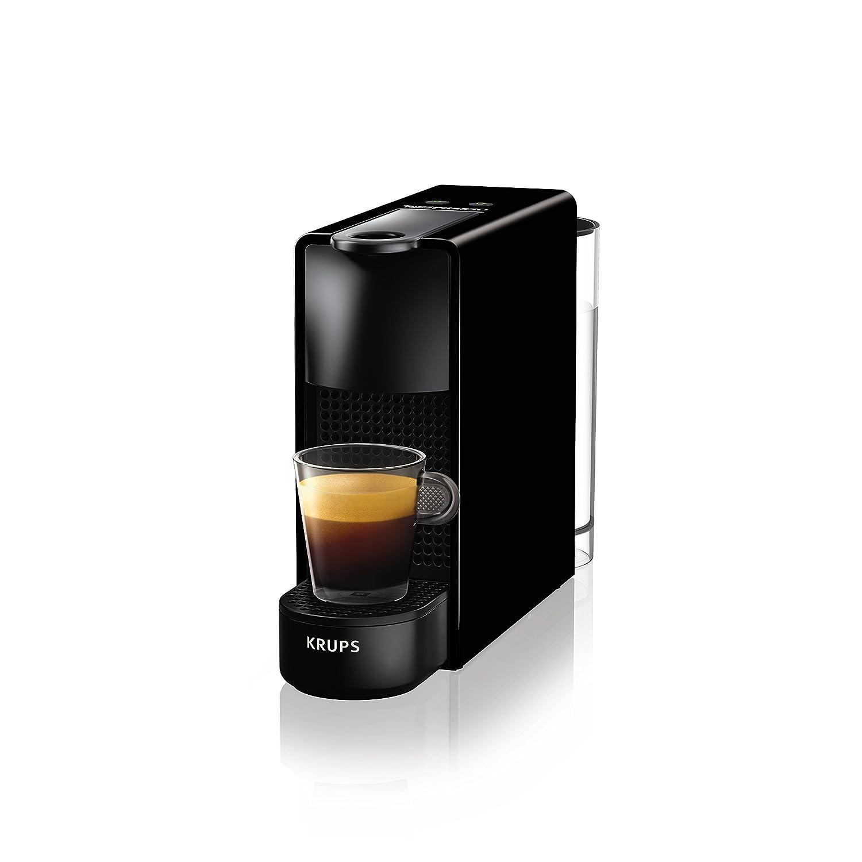 Krups eléctrica Cápsulas de Nespresso Essenza Mini con Aeroccino, bloque térmico de sistema de calefacción, 0.7 l, 1260 W, 19 bar, Negro: Amazon.es: Hogar