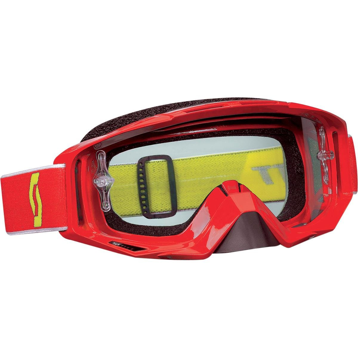 Red Scott Sports Tyrant Goggles with Works Clear AFC Lens (Red, One Size)