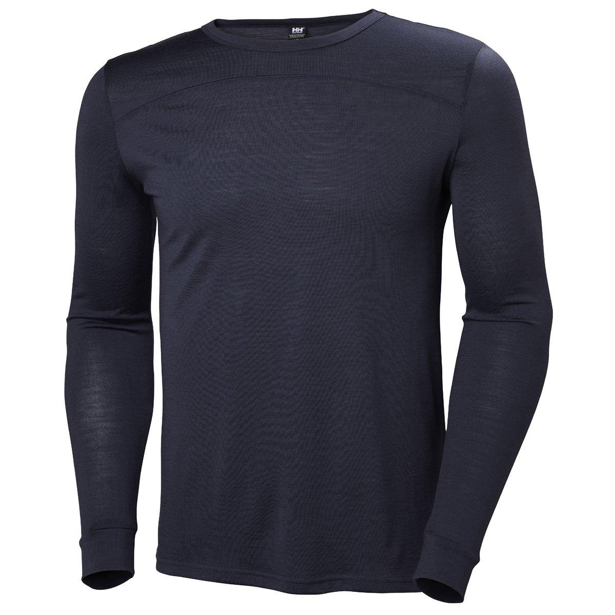 Helly Hansen Mens Merino Wool Mid Long-Sleeve Baselayer Top