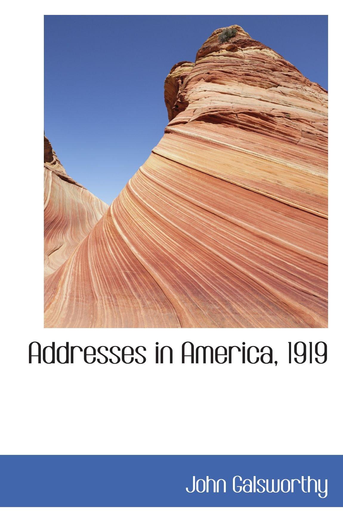 Download Addresses in America, 1919 pdf
