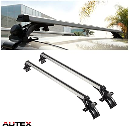 AUTEX 48   Aluminum Universal Car Roof Rack Cross Bars Roof Top Rail Rack  Cargo Carrier with 3 Pair of Mounting Clamps Bike Cargo Box Paddle Board  Ski ... c027daf79af6