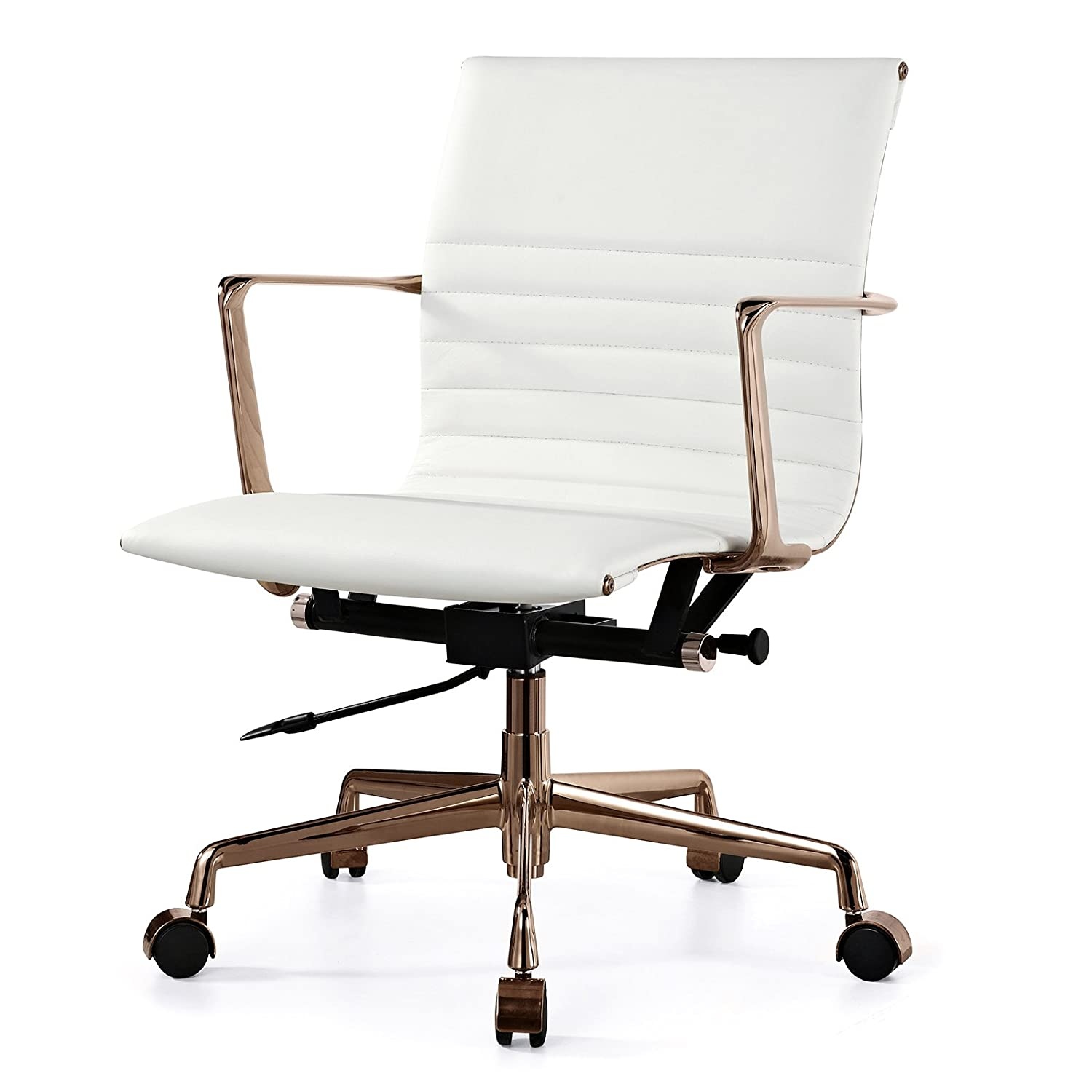 amazon rose gold office dp chair dining kitchen italian meelano com leather white