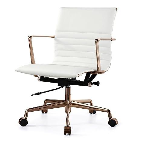Amazon Com Meelano M346 Italian Leather Office Chair Rose Gold