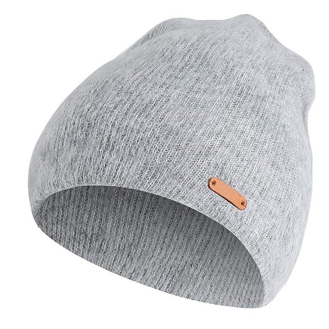 9da4928bca2 Unisex Women Men Fashion Winter Warm Beanies Cap Knitted Hats (Light Grey)