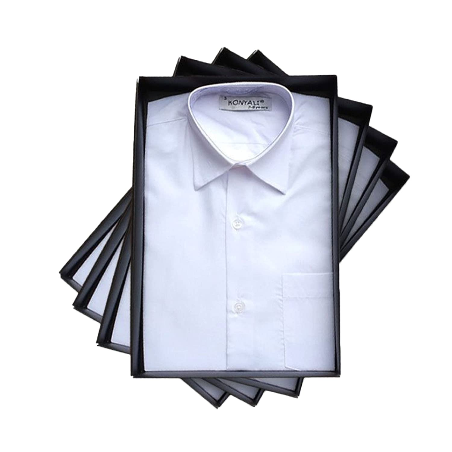 Page Boy Wing Collar Shirt Kids Cotton Blend Shirt Boys Formal White Shirts