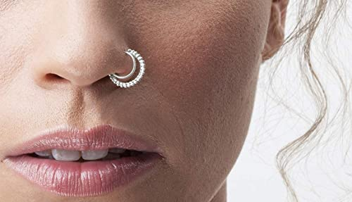Amazon Com Silver Nose Ring Indian Style 925 Sterling Silver