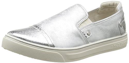 Mustang 1217405 - Zapatos slip-on, Mujer, color Plateado (21 Silber), talla 39: Amazon.es: Zapatos y complementos