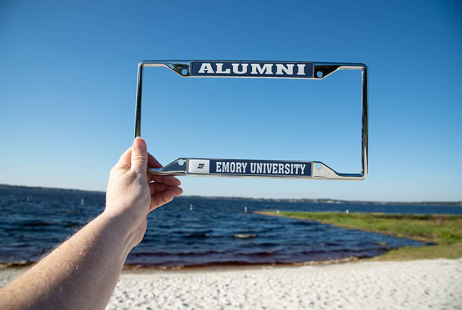 Desert Cactus Emory University Eagles NCAA Metal License Plate Frame for Front or Back of Car Officially Licensed Alumni