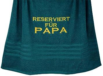 """Duschtuch /""""Bester Papa/"""" mit Namen für Mann Geschenk zum Vatertag Handtuch"""