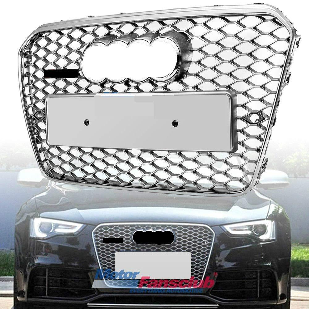 All Chrome mesh stile griglia radiatore griglia anteriore per RS5 A5 S5 2013 –  2015 MOTORFANSCLUB