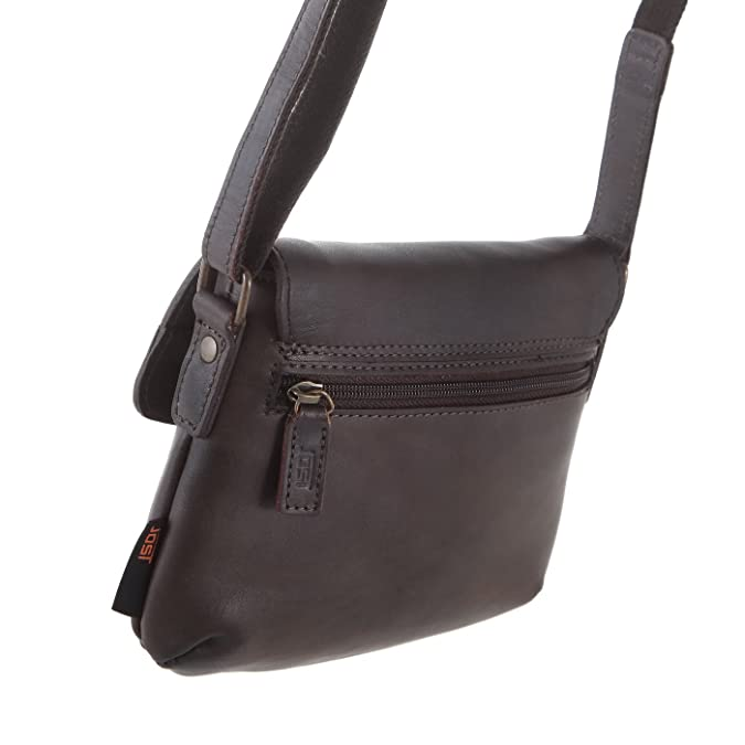 Umhängetasche 2448/003 Damen Handtasche dunkelbraun Jost zngMeB