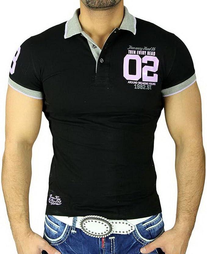 baxboy Hombre Camisa Party Club Manga Corta Polo – Camiseta polo ...
