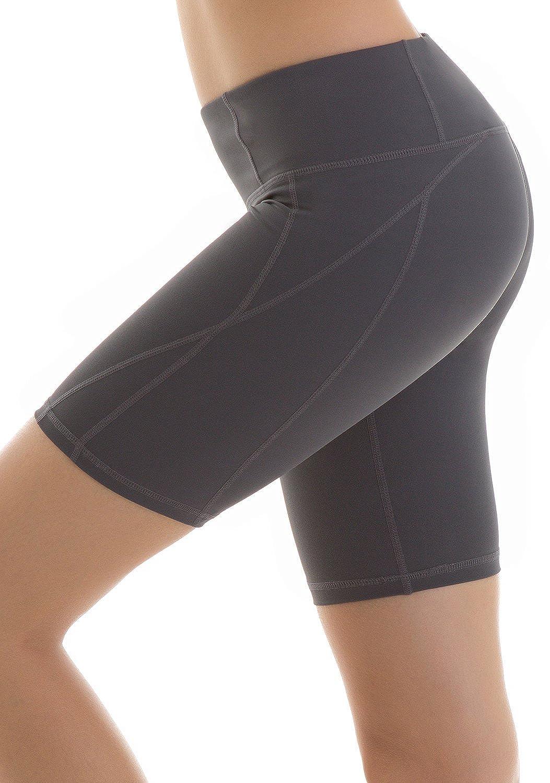 Yoga Reflex - Women's Yoga Shorts - Workout Yoga Short - Hidden Pocket (XS-2XL) Charcoal X-Large CWBSP08-CHARCOAL-XL