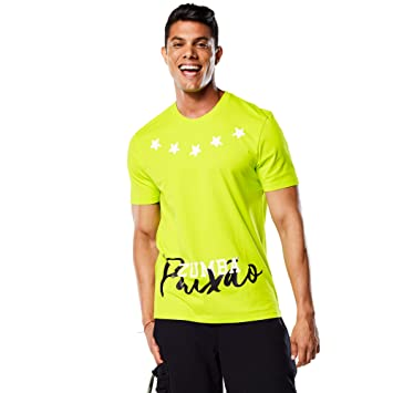 Zumba Fitness® Paixao tee - Camiseta para Hombre, Color Verde, Talla XL: Amazon.es: Deportes y aire libre