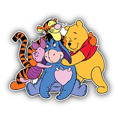 Winnie The Pooh Cartoon Vinyl Sticker Bumper Decal - Longer Side 14'': Toys & Games