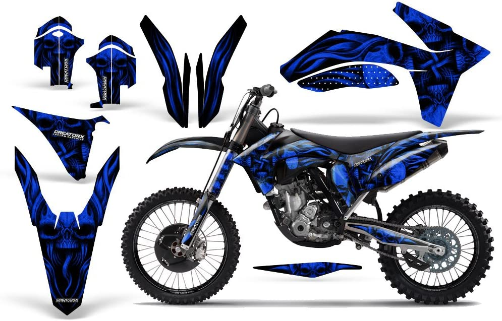 Amazon.com: CreatorX Graphics Kit Decals Stickers for Graphics for KTM  250Sx 350Sx 450Sx Skullcified Blue Incl. Number Plate Graphics: Automotive