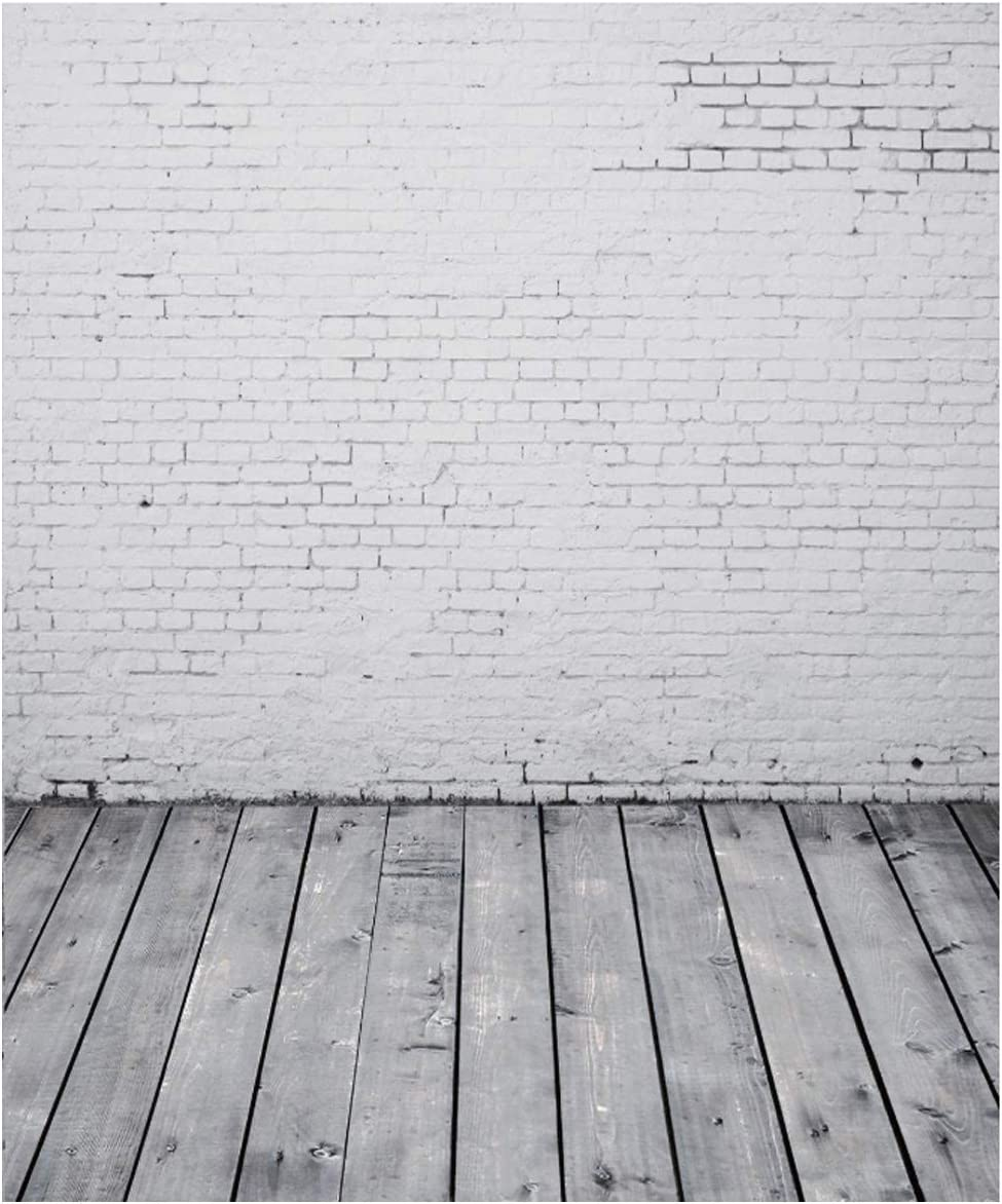 AIIKES 5x7FT White Brick Wall Background Photography Background Brick Wall Photo Background Retro Brick Wall Background Room Decoration Photo Studio Photo Studio Props 94-07