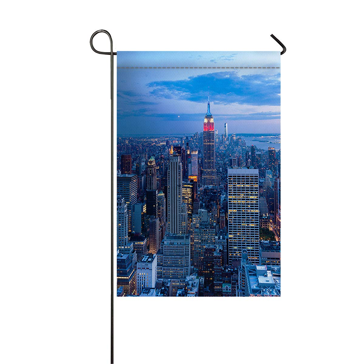 """Image Curtain Double Sided Garden Flags for Home and House 28""""x40"""" Polyester Durable Outdoor Yard Flags, Decorative House Yard Flag Manhattan"""