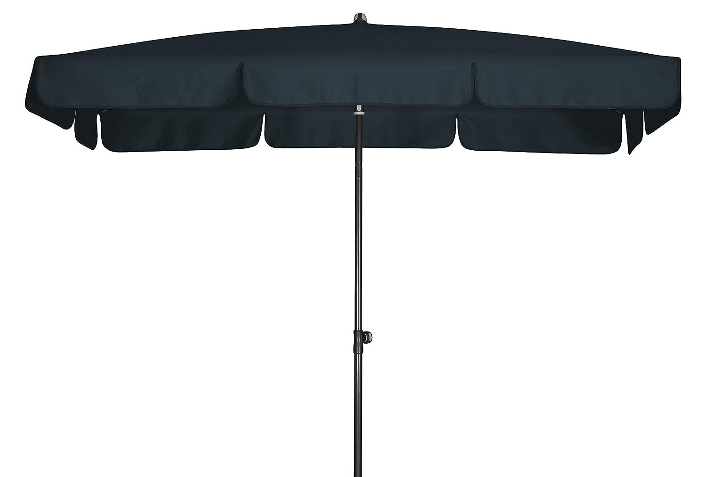 Absolut wasserdichter Gartenschirm Waterproof 260x150 von Doppler mit UV-Schutz 80, Farbe anthrazit