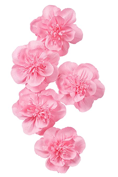 Amazon paper flower decorations for wall pink paper flower for paper flower decorations for wall pink paper flower for wall hot pink crepe paper flower for mightylinksfo