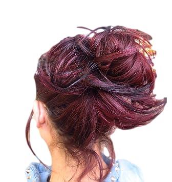 Amazon Com Hair Extension Scrunchie Spiky Up Do Down Do Burgundy