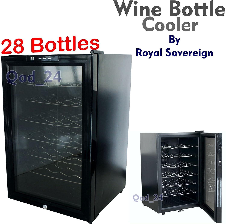 Royal Sovereign Wine Bottles Cooler Fridge For Chilled Drinks Under Table Kitchen Bar Restaurant (Holds 28 Bottles) [Energy Class B] RWC-28SM
