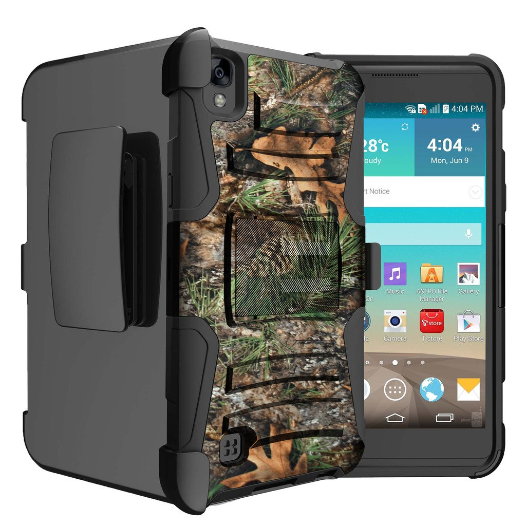 Untouchble Case for LG K6P| K6P Case | LG X Power Tree Camo [Heavy Duty Clip]- Shockproof Swivel Holster Case with Built in Kickstand - Tree Camo Branch