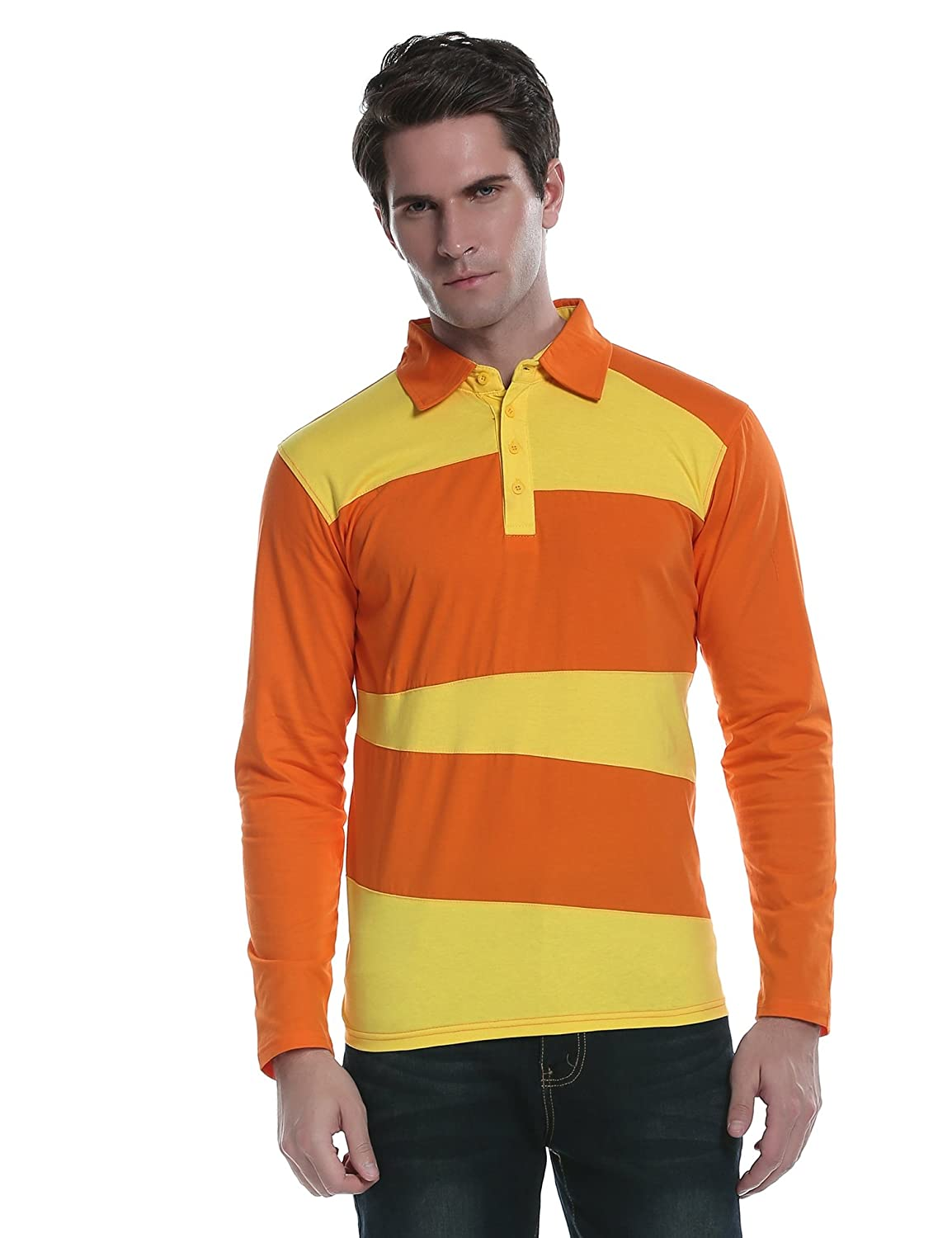 f4e9328ca ... and breathable wearing experience. No shrinkage or fading. Machine Wash   STYLISH DESIGN   Mens stylish long-sleeve hipster hip hop polo shirts